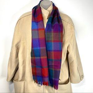 Avoca Handweavers Vintage Irish Wool Plaid Scarf